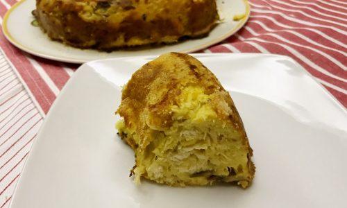ciambella di patate e avanzi di pollo al forno