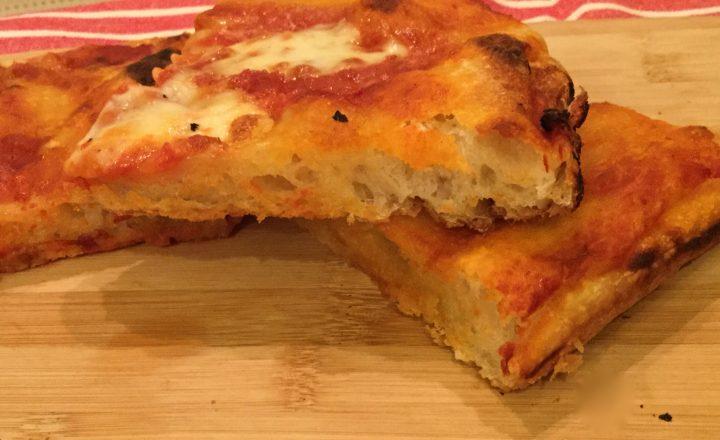 pizza veloce con lievito madre