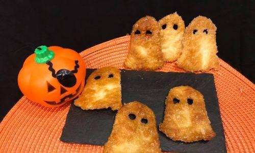 fantasmini di pasta sfoglia caramellati (ricetta dolce per halloween)