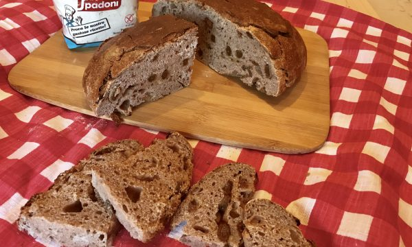Pan castagnaccio (pane con farina di castagne uvetta e pinoli)