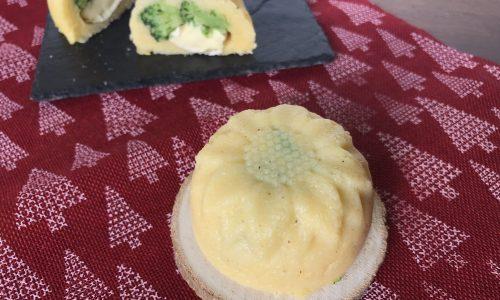 Sformatini di polenta con broccolo e brie