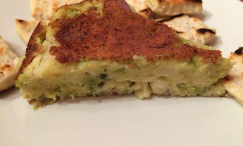 Finta frittata con farina di ceci e broccolo romanesco
