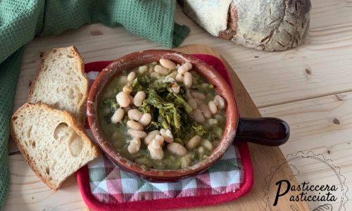 Zuppa di fagioli con i broccoletti