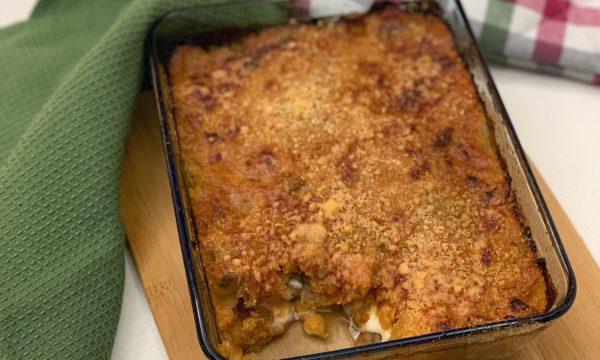 Pasticcio di verza e patate al forno