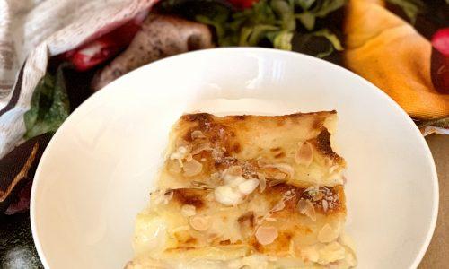 lasagna bianca semplice con prosciutto e formaggio