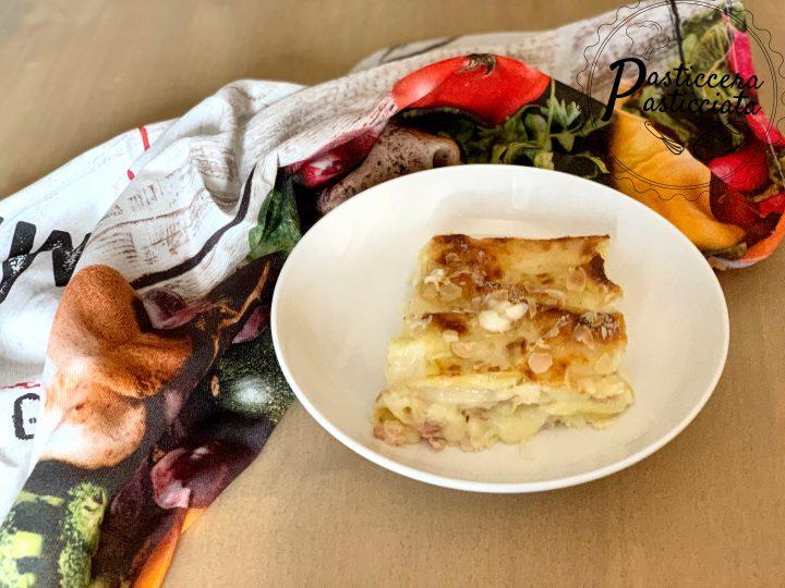 Lasagna con prosciutto e formaggio