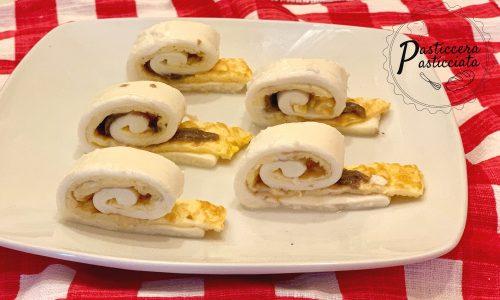 Chioccioline di mozzarella e frittata
