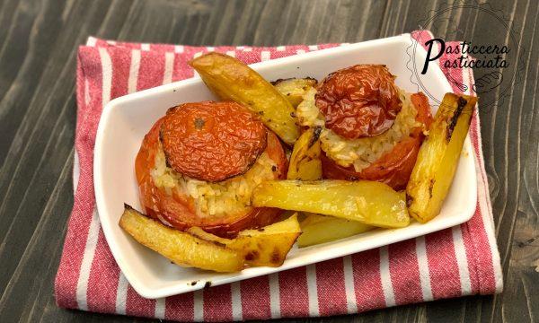 Pomodori ripieni di riso ( piatto tipico romano)