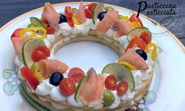Cream tarte salata con salmone
