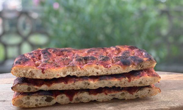 Pizza morbida con patata lessa