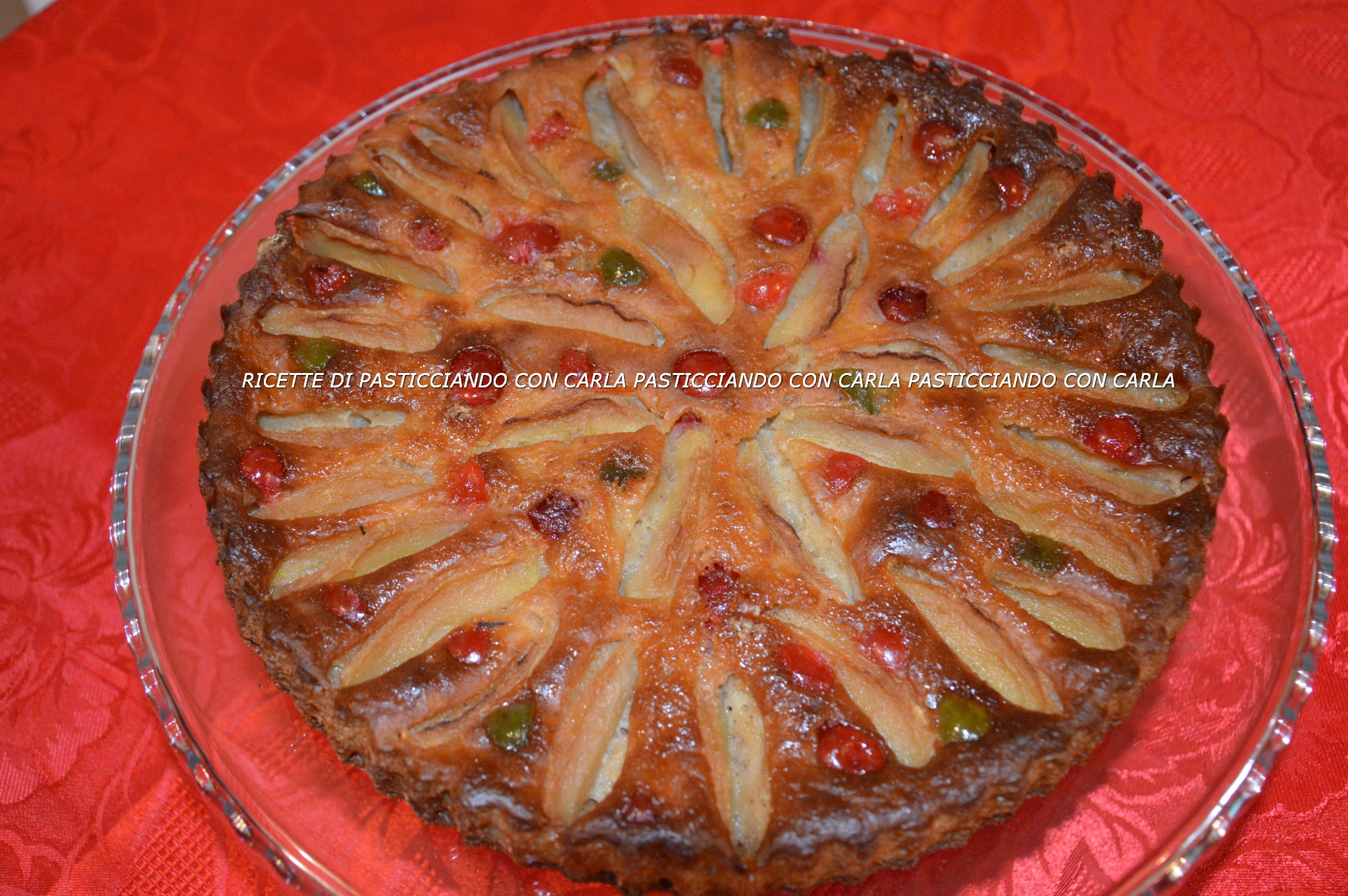 Torta di mele ricotta e grano cotto