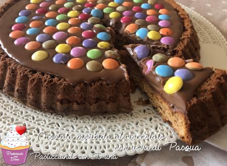 Crostata morbida al cioccolato-Idea riciclo uova di Pasqua