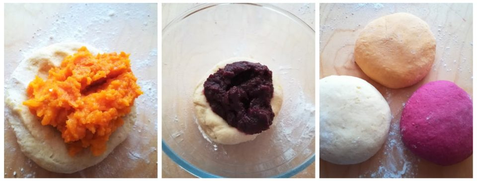 gnocchi di patate colorati
