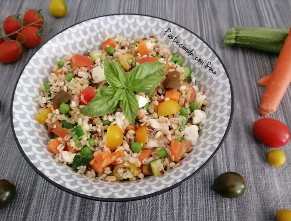 insalata ai 5 cereali e verdure