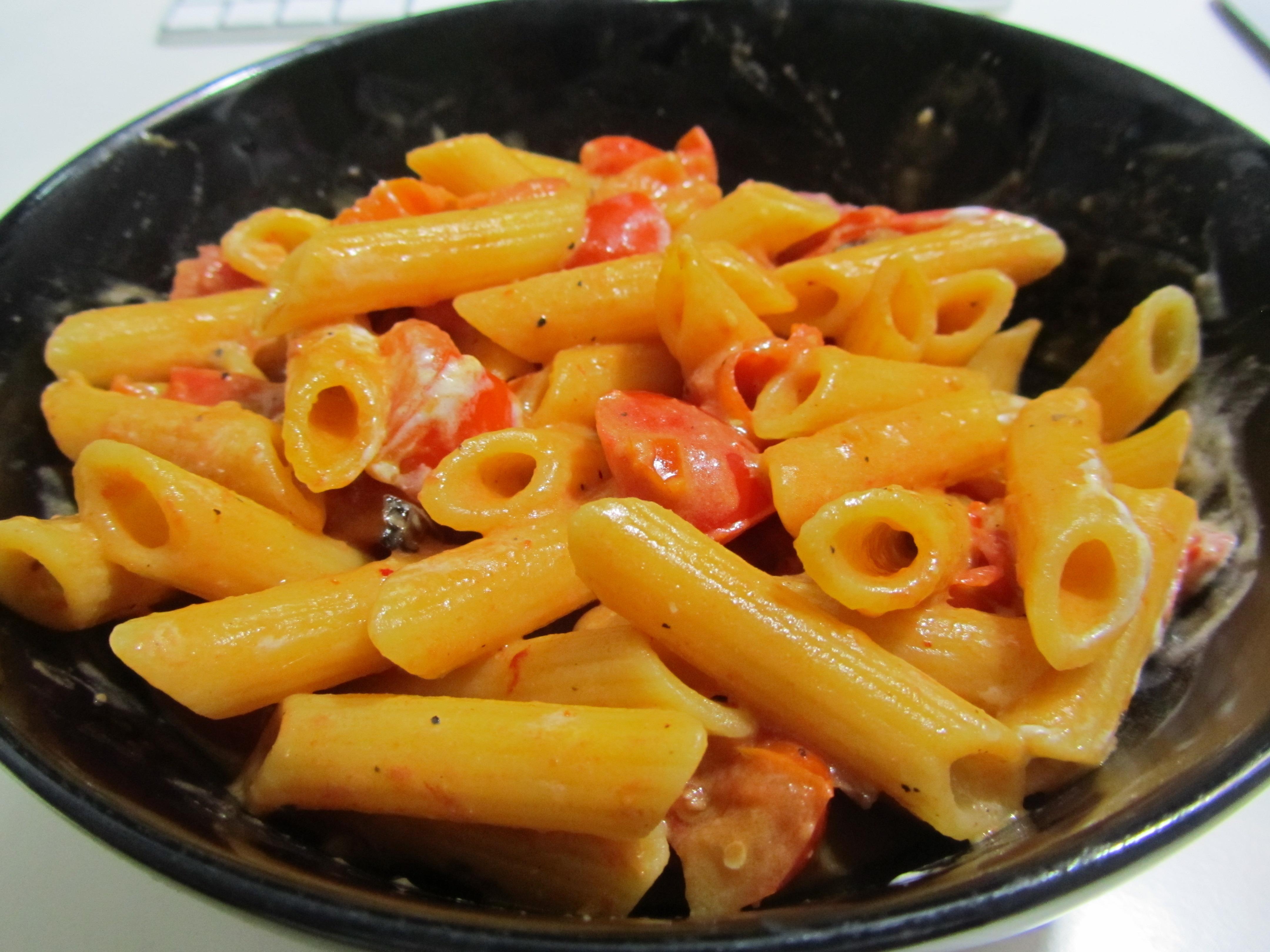 Penne pomodorini e robiola senza glutine pasticciando in for Cucinare x celiaci