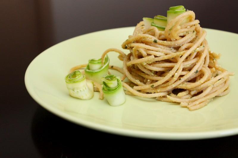 Spaghetti in Crema Verde