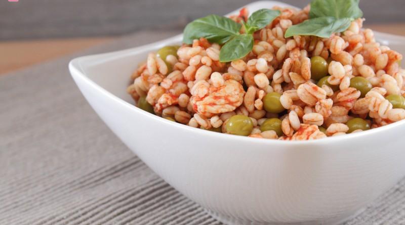 Insalata di Cereali Pollo e Piselli
