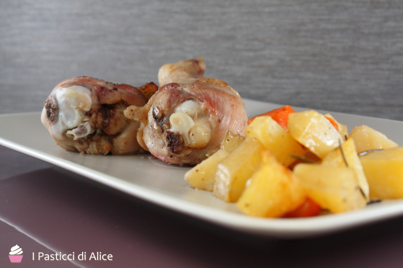 Fusi di Pollo Patate e Carote