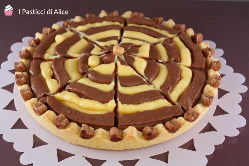 Estremamente Crostata Bicolore con Crema Pasticcera - I Pasticci di Alice! KI33