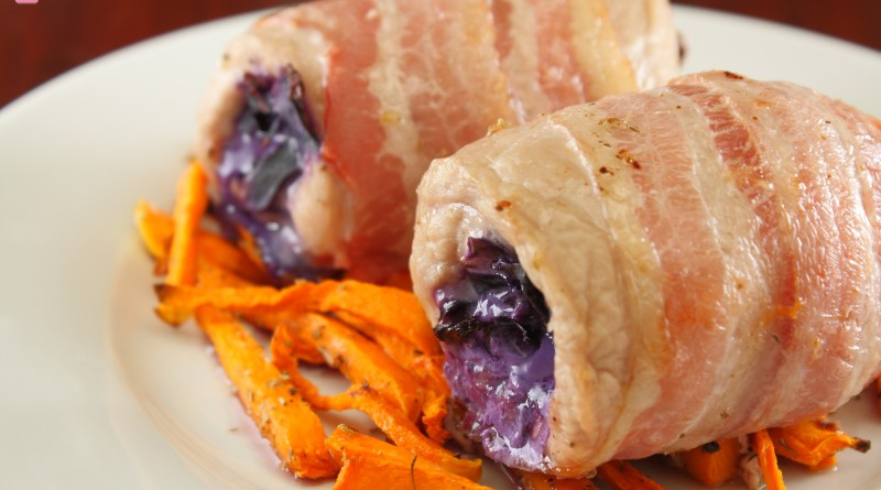 Involtini di Pollo Pancetta e Cavolo Viola
