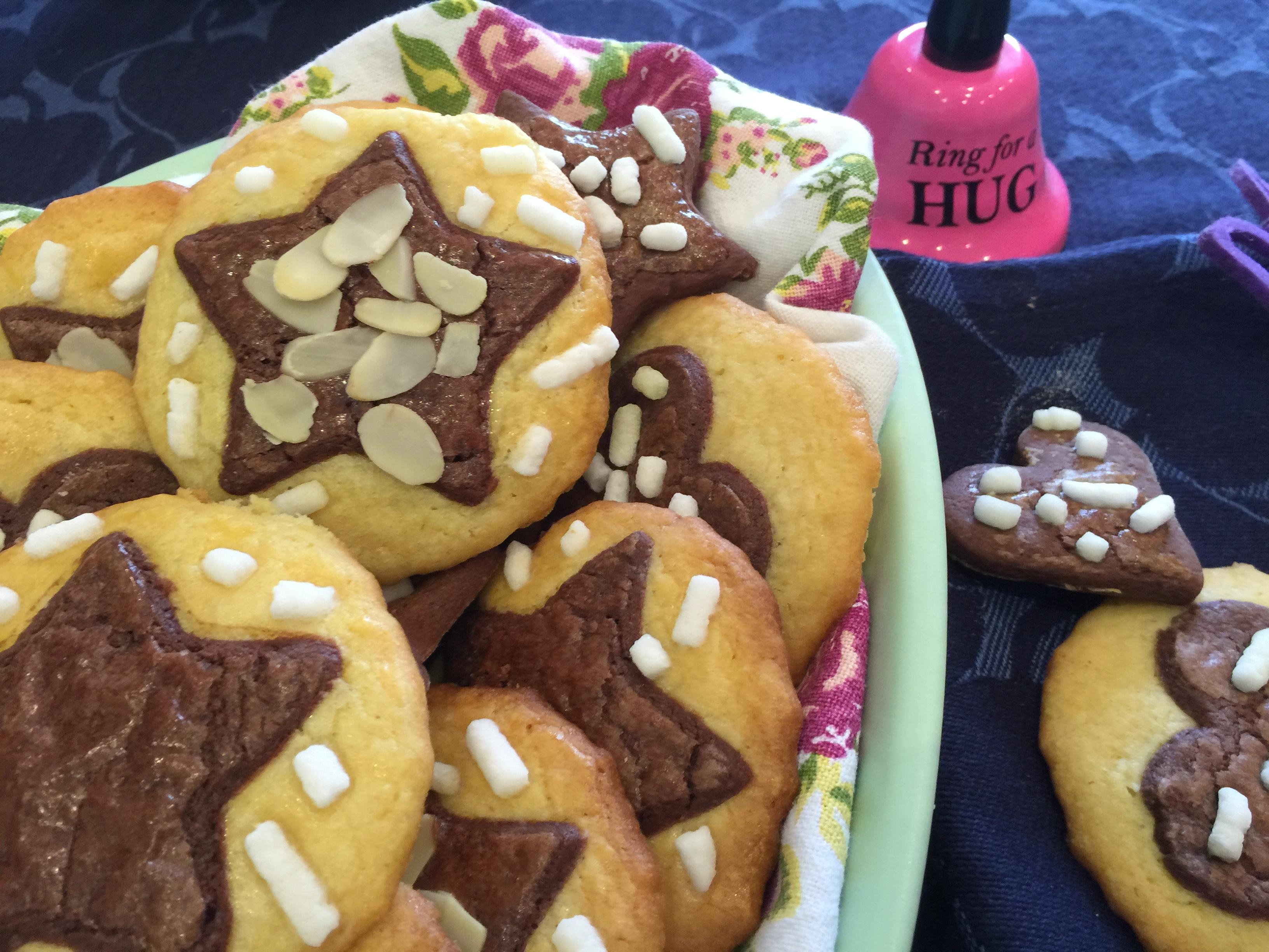 Biscotti di frolla bicolore