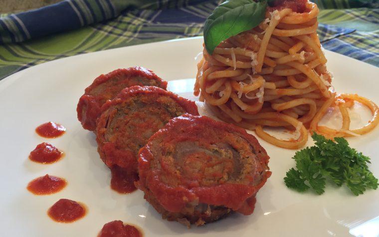 Spaghetti con involtini