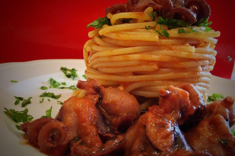Spaghetti con polipetti