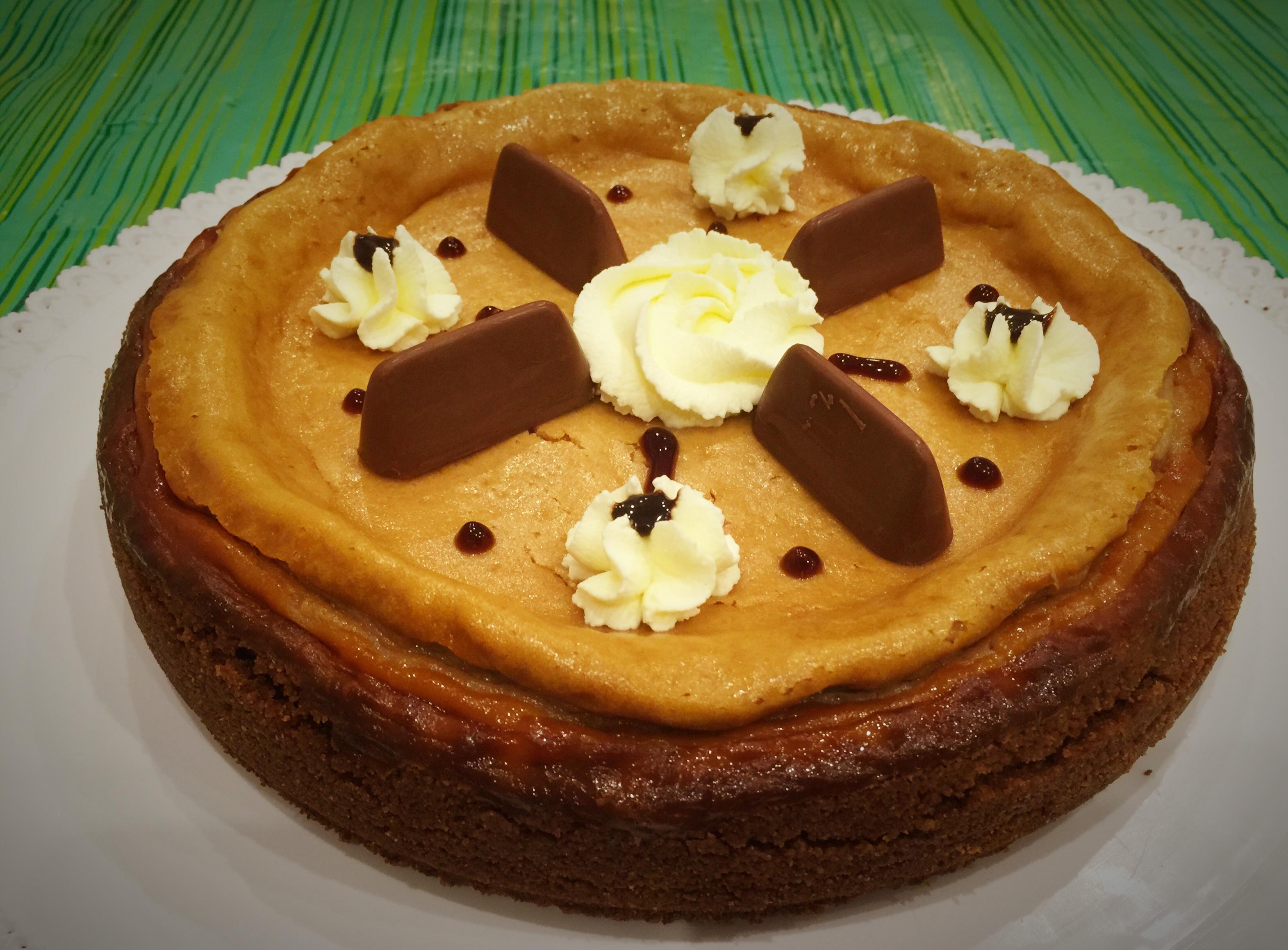 Cheesecake gianduia con cottura
