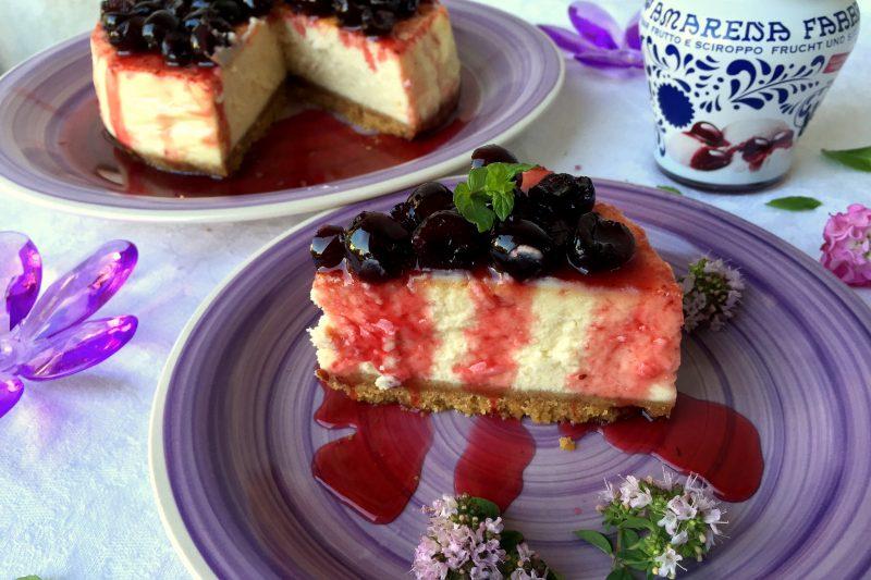 Cheesecake alle amarene con cottura