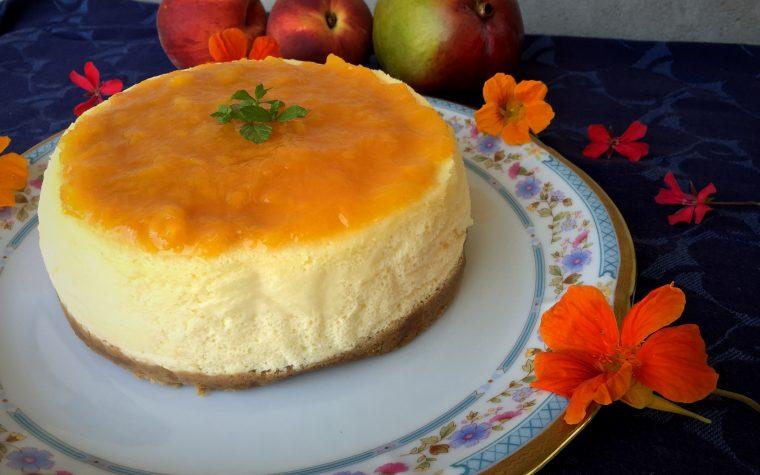 Cheesecake alla pesca e mango con cottura
