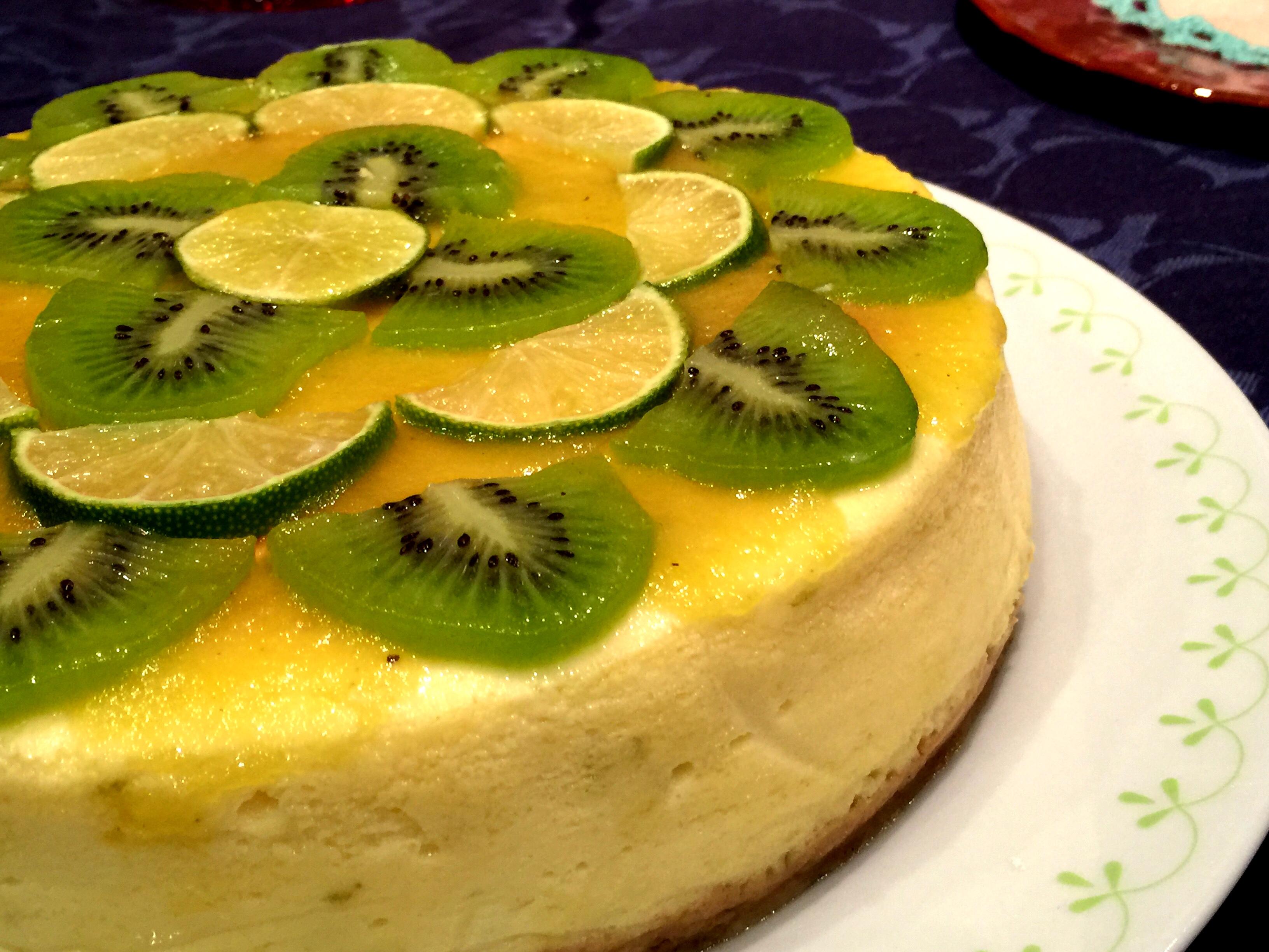 Cheesecake con kiwi e lime