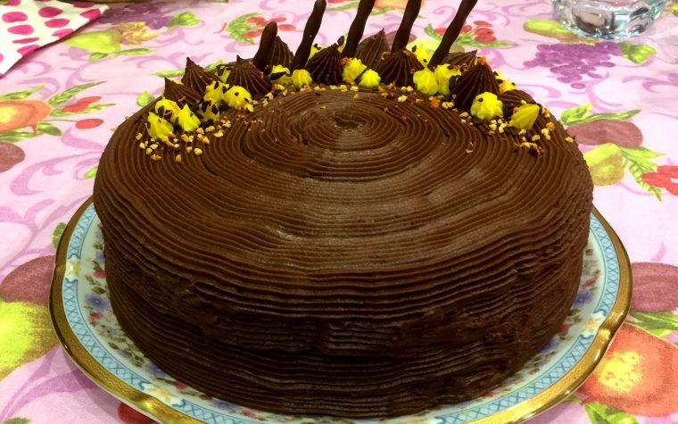 Torta al cioccolato e arancia