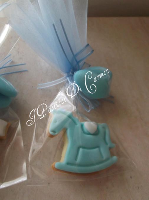 Biscotti Cavallo A Dondolo Pasta Di Zucchero.Biscotti Decorati Per Un Dolce Maschietto