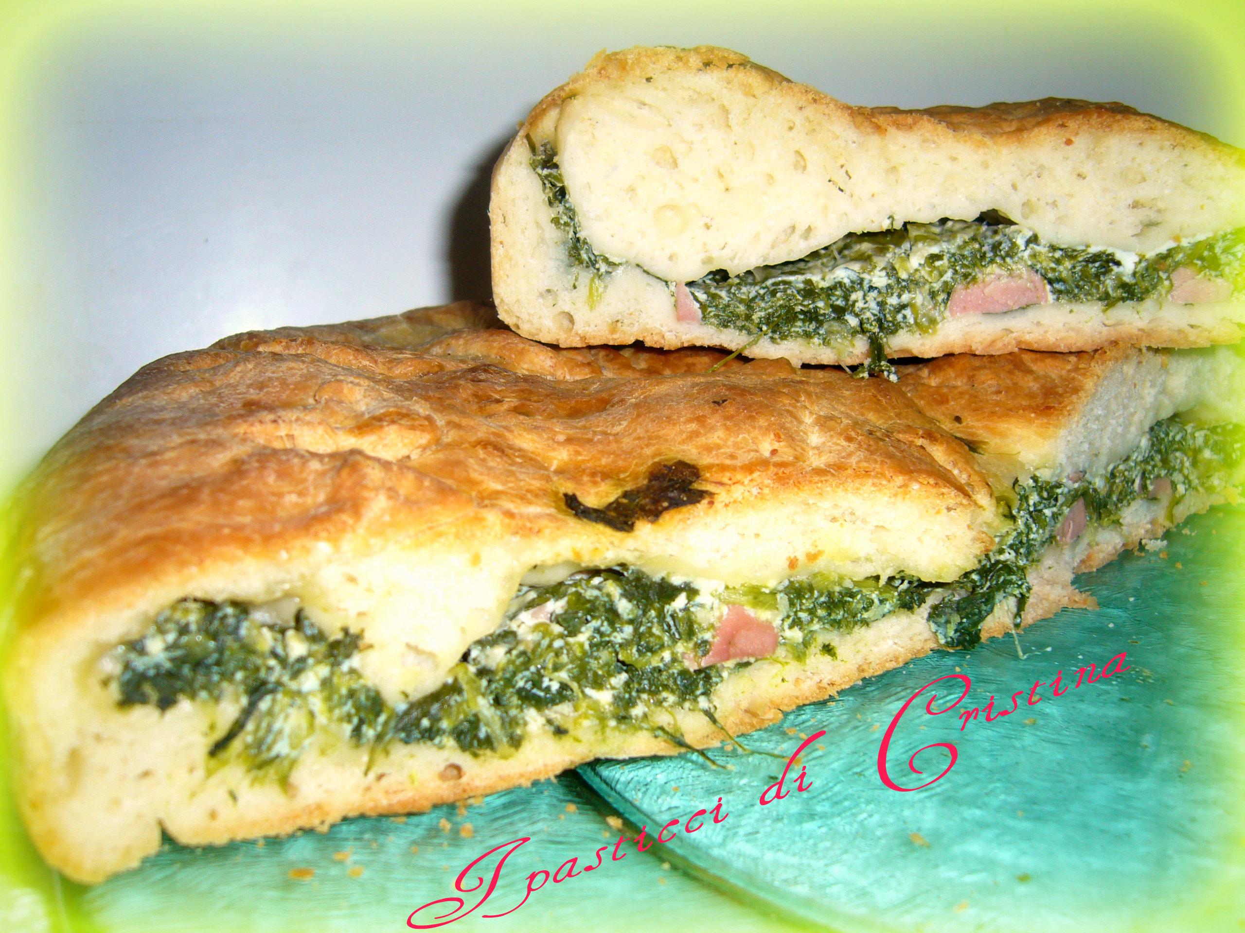 Rustico ricotta spinaci e salame