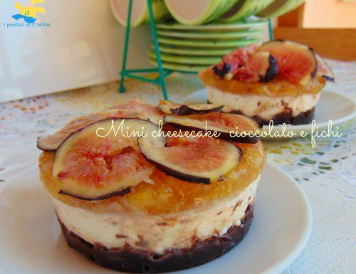 Mini cheesecake cioccolato e fichi