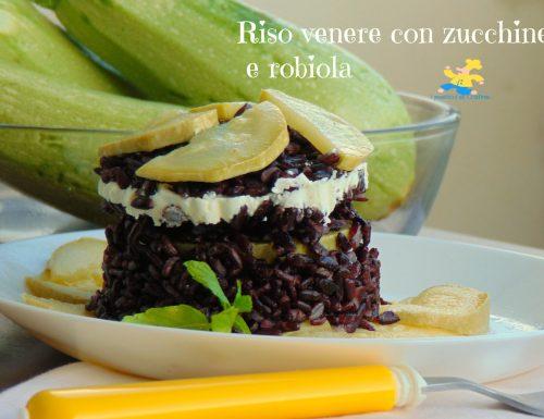 Riso venere con zucchine e robiola