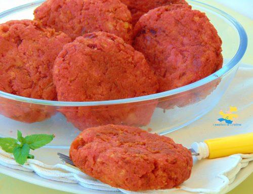 Polpette di barbabietola rossa