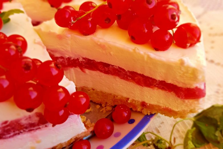Torta fredda ribes e yogurt greco