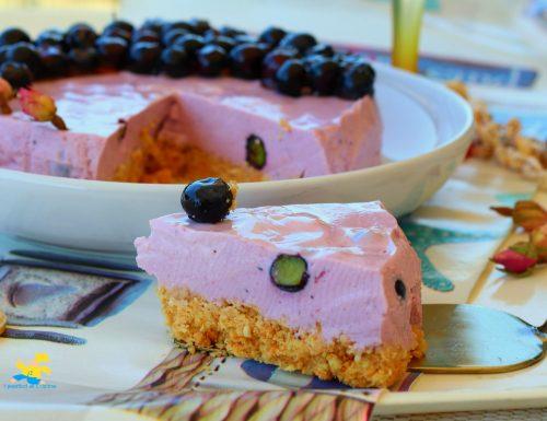 Cheesecake ai mirtilli neri
