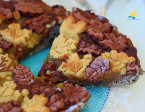 Crostata  grano saraceno pere e cioccolato