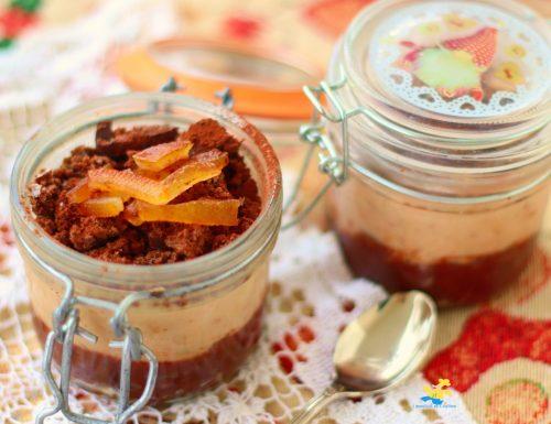 Semifreddo castagne cioccolato e arancia