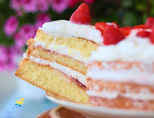 Torta fragole e yogurt greco