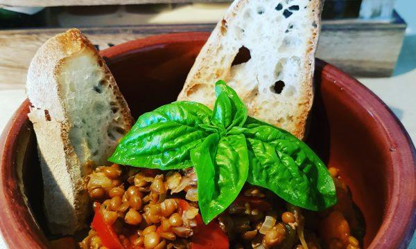 Zuppa di lenticchie primavera