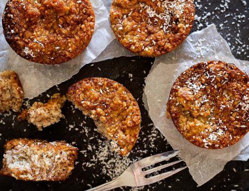 Muffin al cocco con farina di mandorle