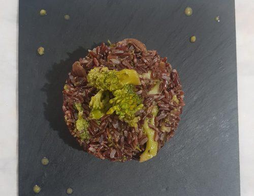 Riso rosso integrale con broccolo ripassato