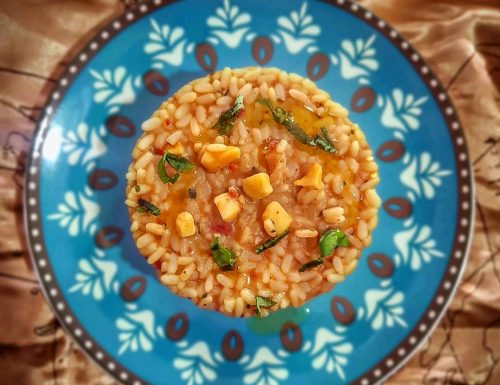 Risotto con sughetto di totani