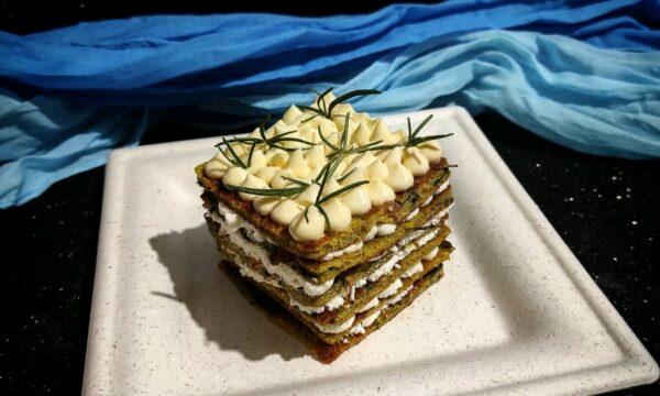 Naked cake salata alle erbe aromatiche con crema di ricotta – ricetta