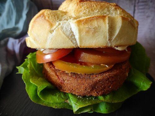 Burger Gourmet di lenticchie e pomodorini secchi