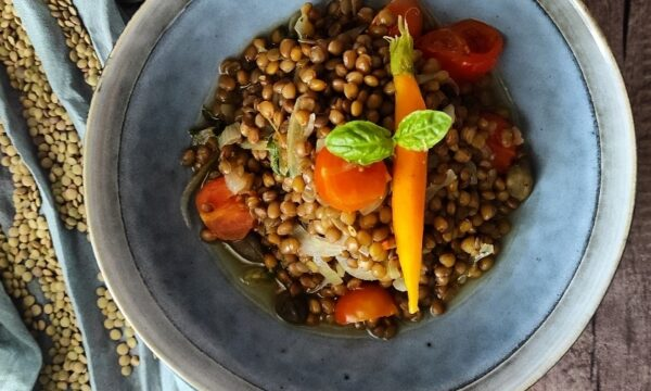 Zuppetta di lenticchie primavera