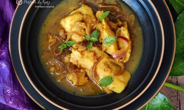 Filetti di merluzzo al curry e menta